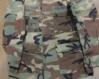 Woodland Camo Shirt Sz Large Long