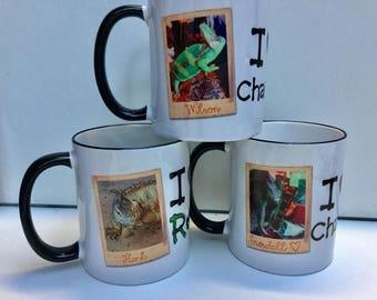 Personalised reptile / chameleon mug