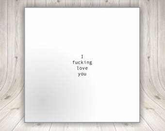 I Love You Valentines Day Card