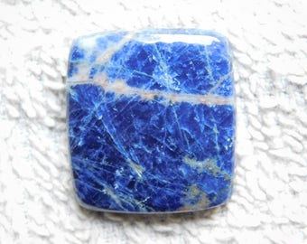 Rare! Awesome Sodalite gemstone cabochons Sodalite gemstone Beautifull sodalite loose gemstone Top quality sodalite 38.50cts (28x26x5)mm