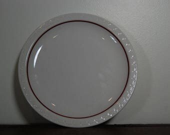 Syracuse China Plate with Red Band- Restaurant Ware- Diner Ware