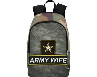 Army Wife Custom Fabric Backpack