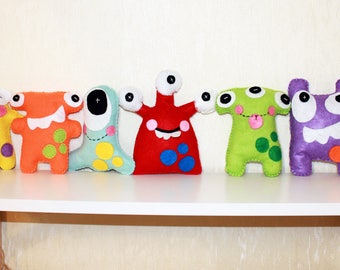 Set Monster Toy Felt Colorful Creature Gift