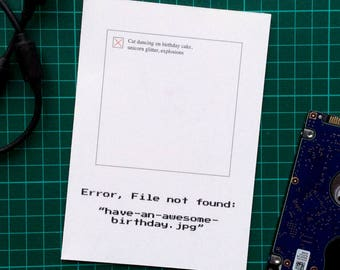 File not found greetings card