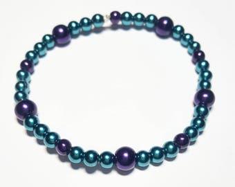 Purple & Teal pearls