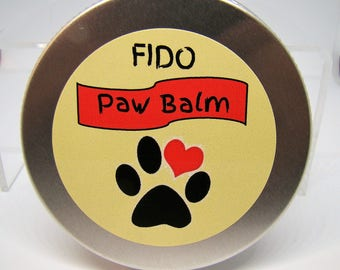 "Dog Sir Dudley's Fido ""Paw Balm"" with all Natural Essential Oils for Topical Application"