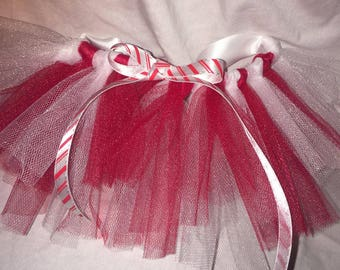 Red and White Tulle Tutu