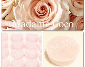 3 madam coco perfume wax melts, designer dupe melts, perfume dupe melts, cheap wax melts, strong wax melts, chanel wax melts