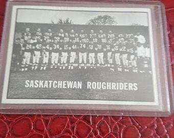1961 Topps CFL Football #101 Saskatchewan Roughriders Team Card.combined shipping