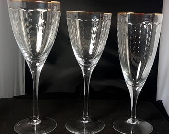 """8 X WATERFORD (MARQUIS) AILLION 8"""" Wine Glasses"""