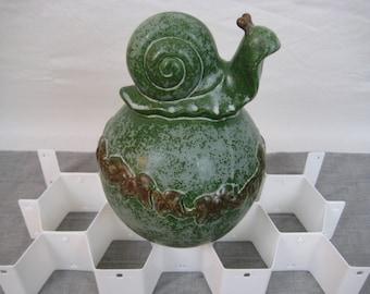 """Ceramic Snail Figure, 8.5"""""""