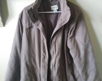 St John's Bay L taupe mens coat (no hood)