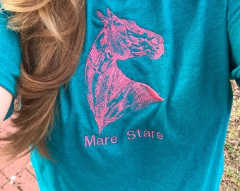 Mare stare, mare, equestrian, equestrian shirt, horse shirt, horse, pony, rider, horse back riding, stable, mare owner, horses
