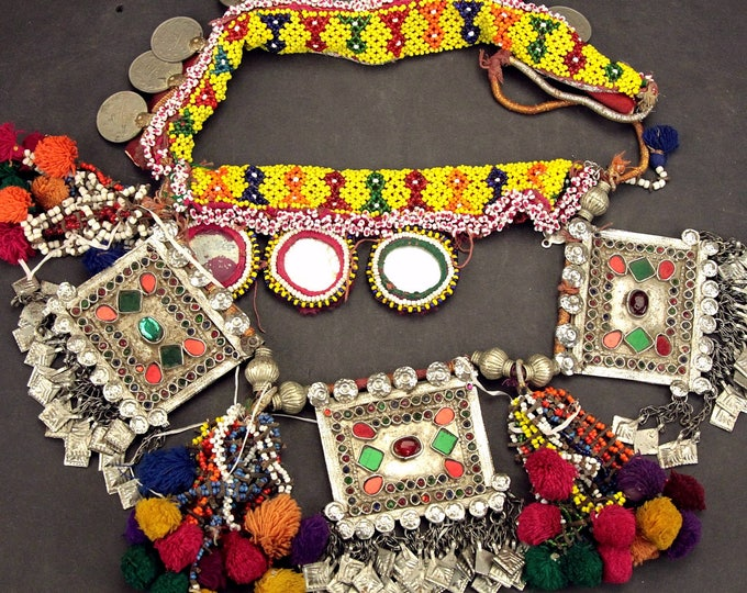 Afghan Tribal BELT Bellydance Dangles Turkoman 868j8