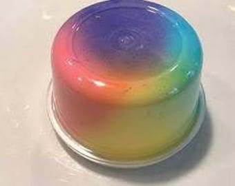 NO WORLDWIDE SHIPPING!! Glossy Rainbow Slime 8oz