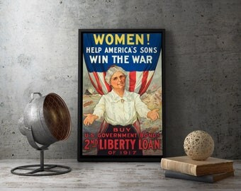 WWI American Liberty Loan Propaganda Poster - military, history, us bonds, ww1, first world war, 1917, collectible, memorabilia, victory
