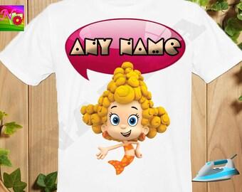 Bubble Guppies Iron On Transfer, Iron On Bubble Guppies, Bubble Guppies Birthday Girl Shirt, Digital Transfer, Personalize