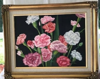 Pretty Pink and White Carnations