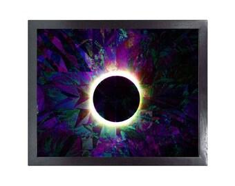 Total Solar Eclipse (Printable Science Art - Geometric - Instant Digital Download)