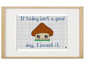 if today is not cross stitch pattern (download PDF)
