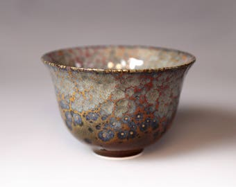 Glost-fired Earthen Teacup- Riched texture