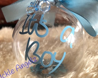 New baby/Baby Shower Decoration/Baby shower/Gender Reveal Baubles/Gender Reveal Decoration
