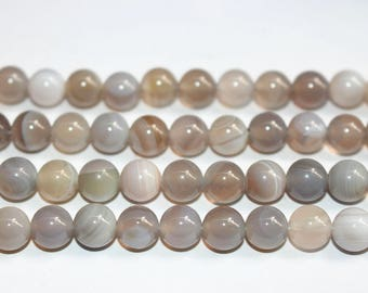 15 Inches Full strand,Natural Madagascar Gray Stripe Agate Smooth round beads 8mm ,loose beads,semi-precious stone