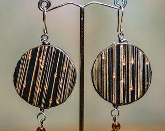 Brown holiday lights homemade earrings