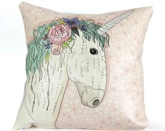 Unicorn pillow pillow faux leather children kids unicorn decorative pillow pillow cover outdoor pillow