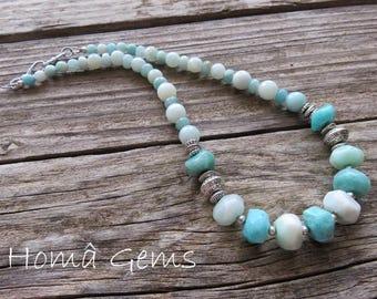 Blue Amazonite necklace.