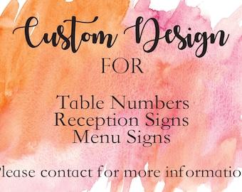 Custom Reception Sign Design