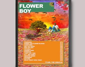 Tyler, The Creator Flower Boy Alt Custom Music Poster // A3 Album Art // Wall Art Poster Design