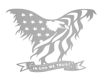Metal, Eagle, In God We Trust, USA