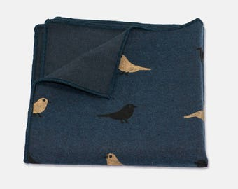 Blue Bird Cotton Pocket Square