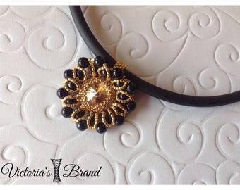 Pendant Necklace with Swarovski stone.