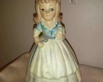 Vintage music box figurine