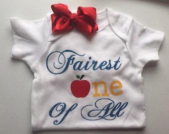 Snow White 'fairest one of all' onesie