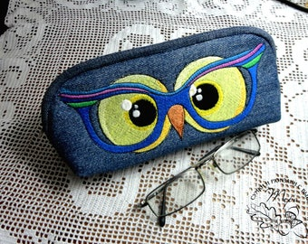 Bag for glasses with embroidery Sunglasses Holders for sunglasses Pouch for glasses Gift for her Pouch for glasses Soft pouch for glasses