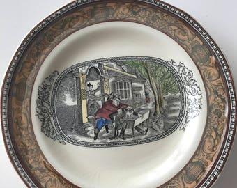 2 Platos porcelana Adams