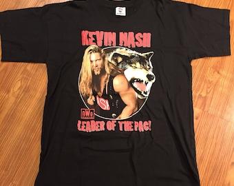 "Vintage 90s WCW/nWo Kevin Nash ""Leader of the Pack"" T Shirt"
