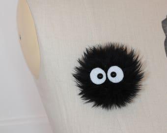 soot sprite brooch - spirited away
