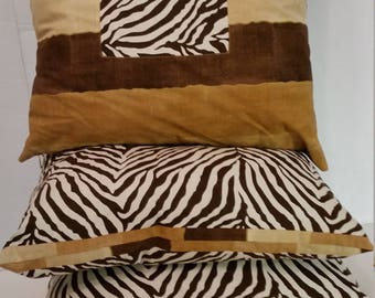 Set of 3 Zebra stripe pillows