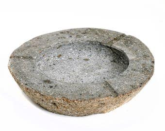 Natural stone ashtray from Bali Indonesia.