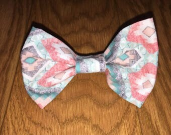 Pink tribal bow tie
