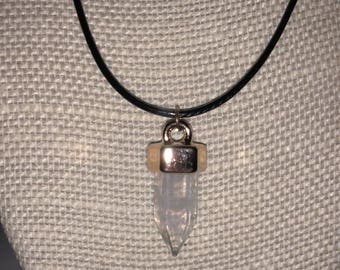 Dainty clear crystal necklace