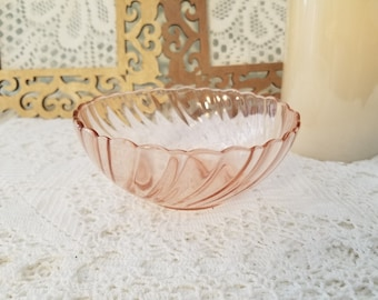 Pink Rosaline Arcoroc bowl