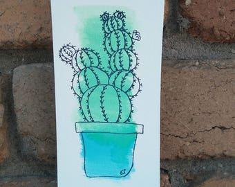 Golden Ball Cactus Original Artwork