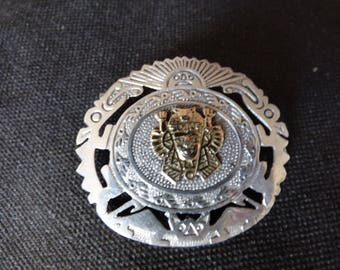Peruvian sterling silver brooch