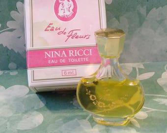 Vintage Nina Ricci Eau de Fleurs/vintage perfume/vintage fragrance/nina ricci/eau de toilette/mini bottle/miniature perfume/french perfume
