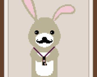 Woodland Rabbit Cross Stitch Pattern (Digital Download)